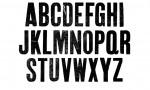 Adobe Photoshop Texture  0001  Tex Herbal Letterpress Condensed Uppercase Original