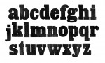 Adobe Photoshop Texture  0003  Tex Herbal Letterpress Slabserif Lowercase Grainy