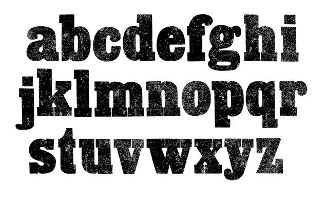 Vintage letterpress slab font texture pack ccuart Choice Image