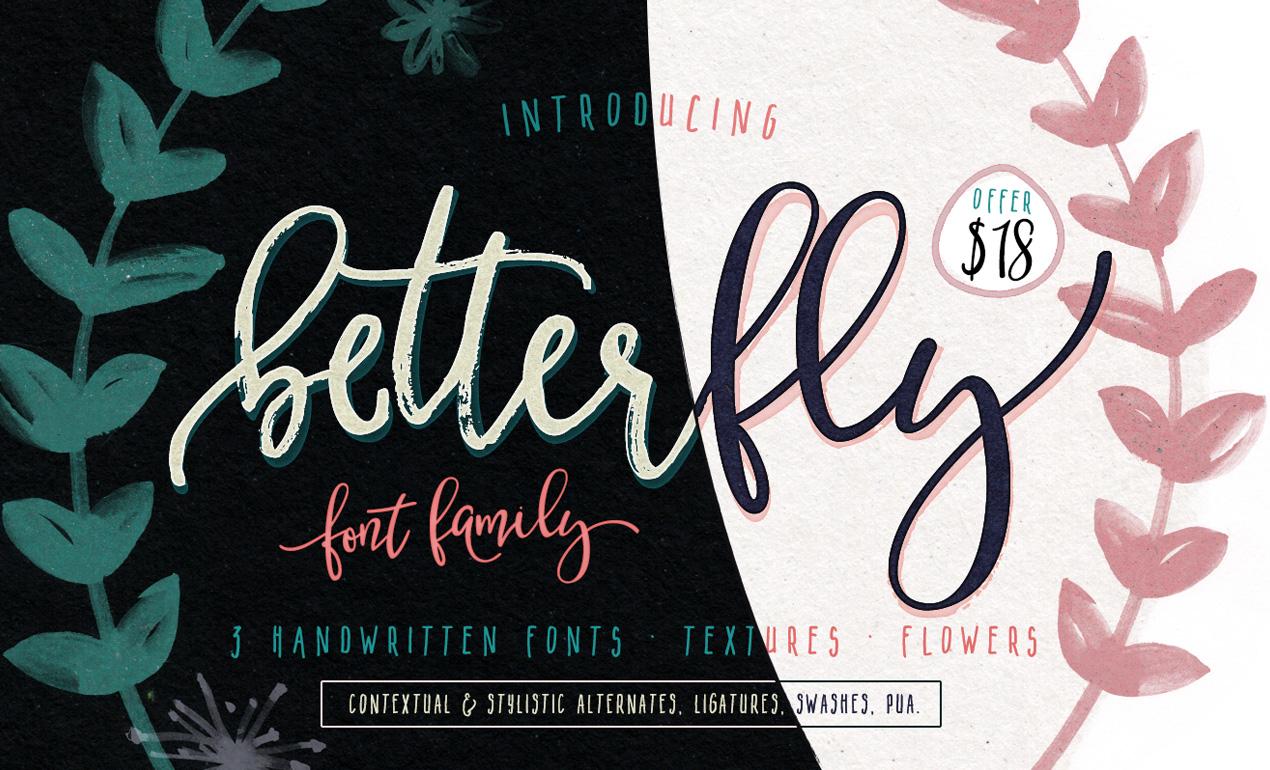 Betterfly Handwritten Script Font