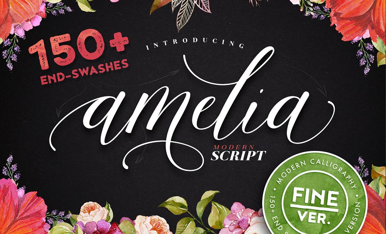 Amelia Script Font