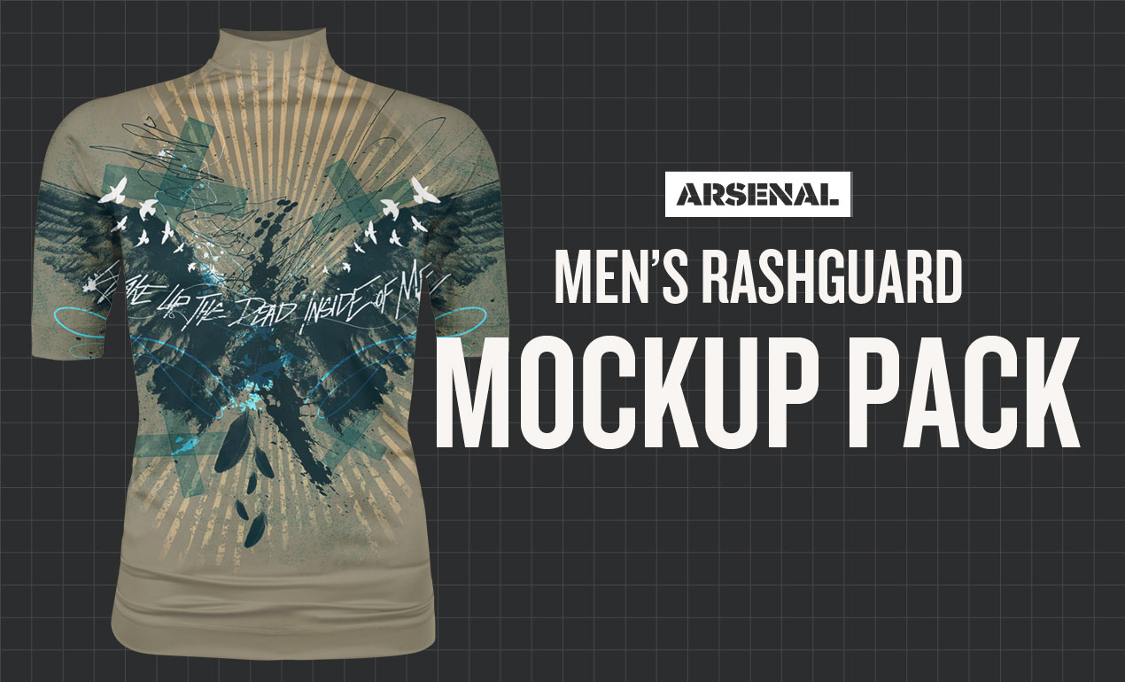 men's rashguard mockup template pack
