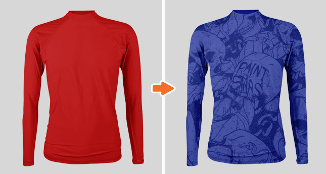 Men's Rashguard Mockup Template Pack by Go Media
