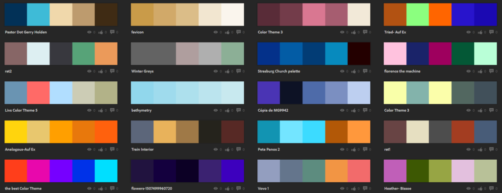 Explore All Themes Adobe Color CC
