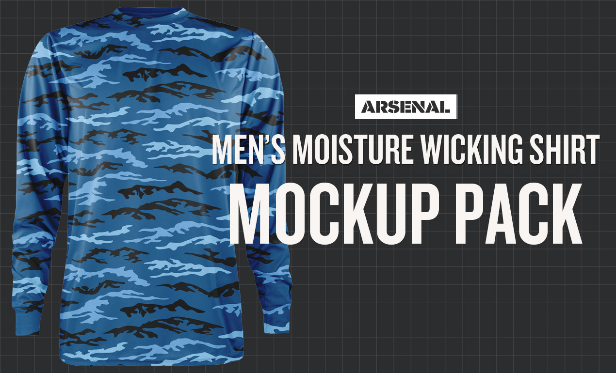 Moisture Wicking Shirt Mockup Template Pack