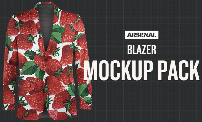 Blazer Mockup Template Pack by Go Media