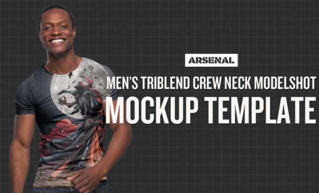 African American Model Mockup