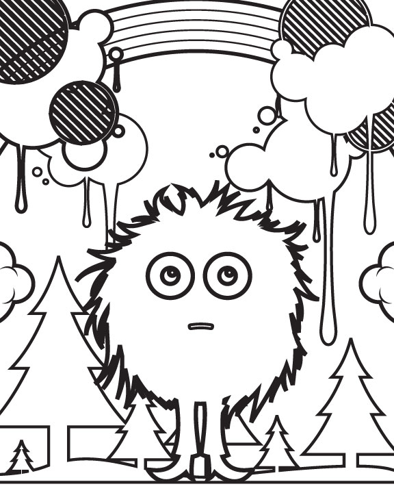 Go Media Cute Stuff Coloring Page