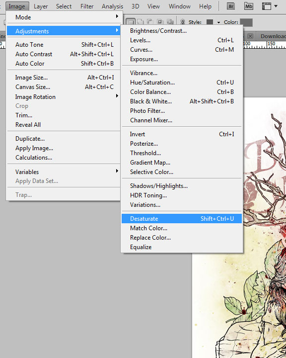 Creating your own coloring book using Photoshop