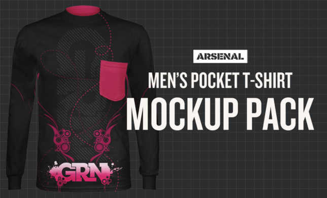 Men's Pocket T-Shirt Mockup Template Pack