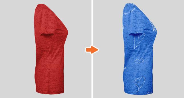 Ladies Burnout T-Shirt Mockup Templates
