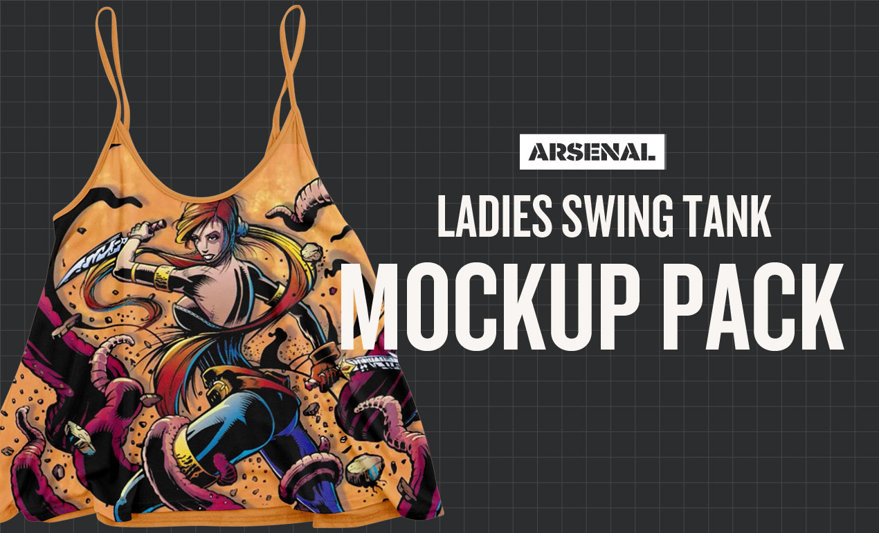 Ladies Swing Tank Mockup Template Pack