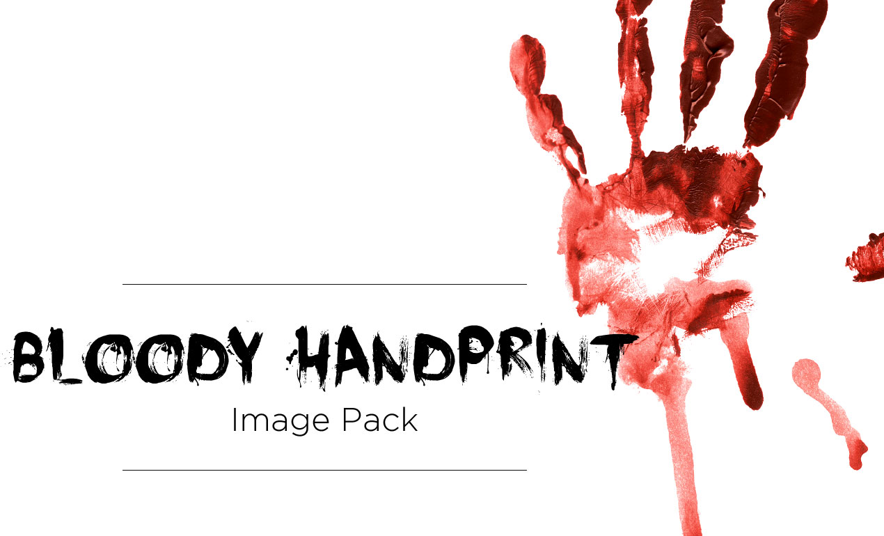 Bloody Handprint Stock Image