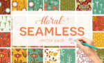 Seamless Floral Pattern Vector Pack