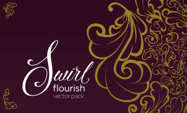 Swirl Flourish Vector Pack
