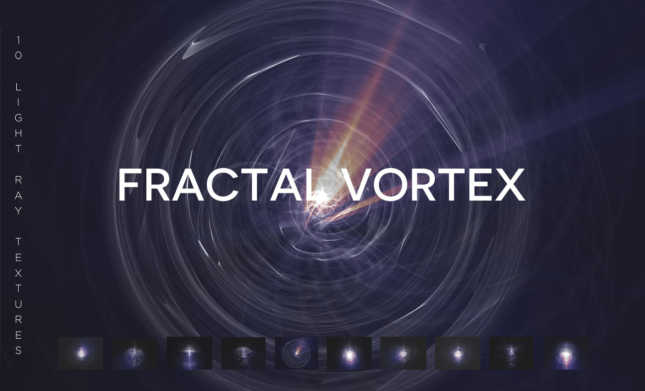 Fractal Vortex Light Ray Texture Pack
