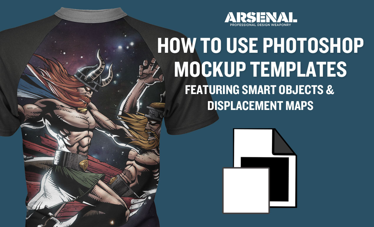 How to Use Mockup Template Packs featuring Smart Objects