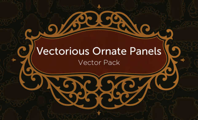 Vectorious-Ornate Panel Vector Pack