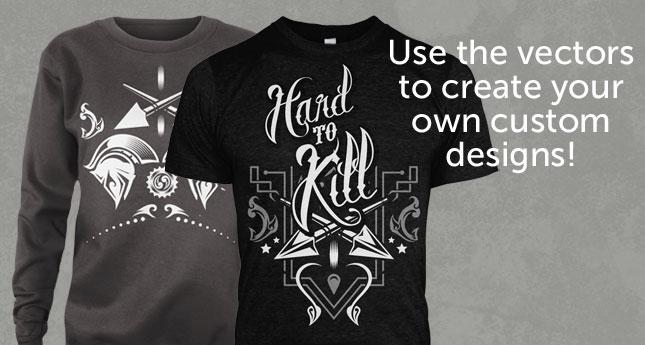 acbc1d9b Hard to Kill Full T-Shirt Design Vector Set by Dedda Sutanto for Go ...