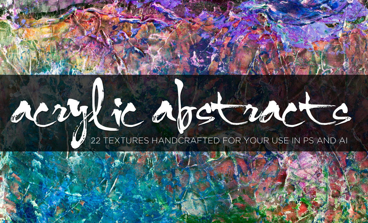 Abstract Acrylic Paint Texture Pack