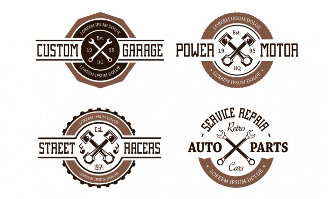 Retro Vector Auto Emblems