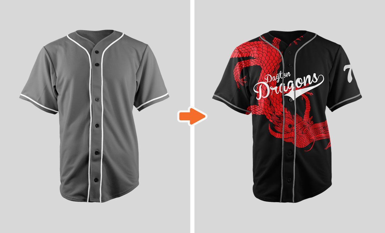 softball uniform design templates - sports jersey mockup template pack