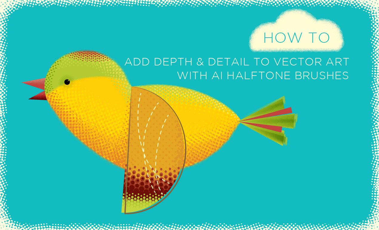 Halftone Brushes for Illustrator