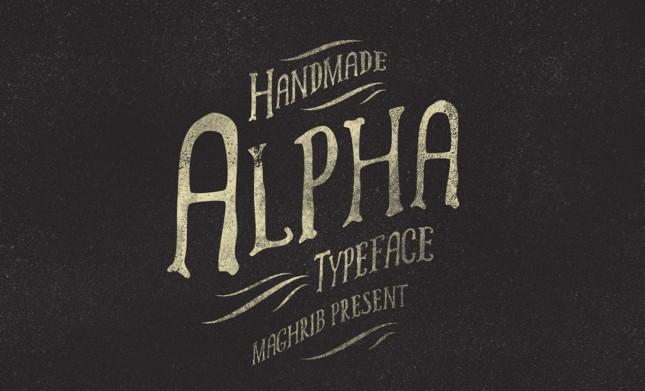 Alpha Handwritten Vintage Typeface