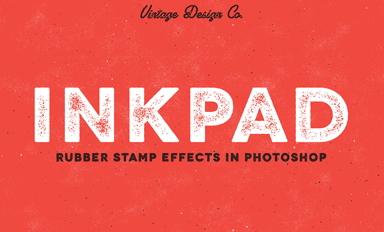 ink pad rubber stamp effect