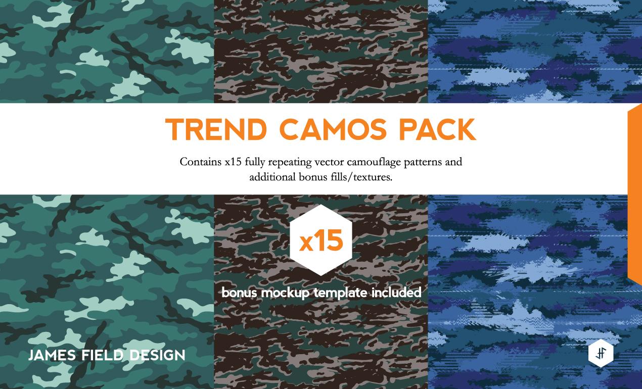 Shirt design vector pack - Camo Texture Pack
