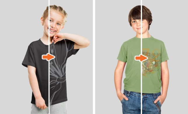 Kids Apparel Mockup Photoshop Templates Pack Kids T Shirt Mockups & More   Hero