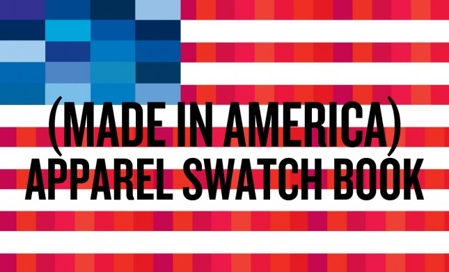 American Apparel Swatch Book