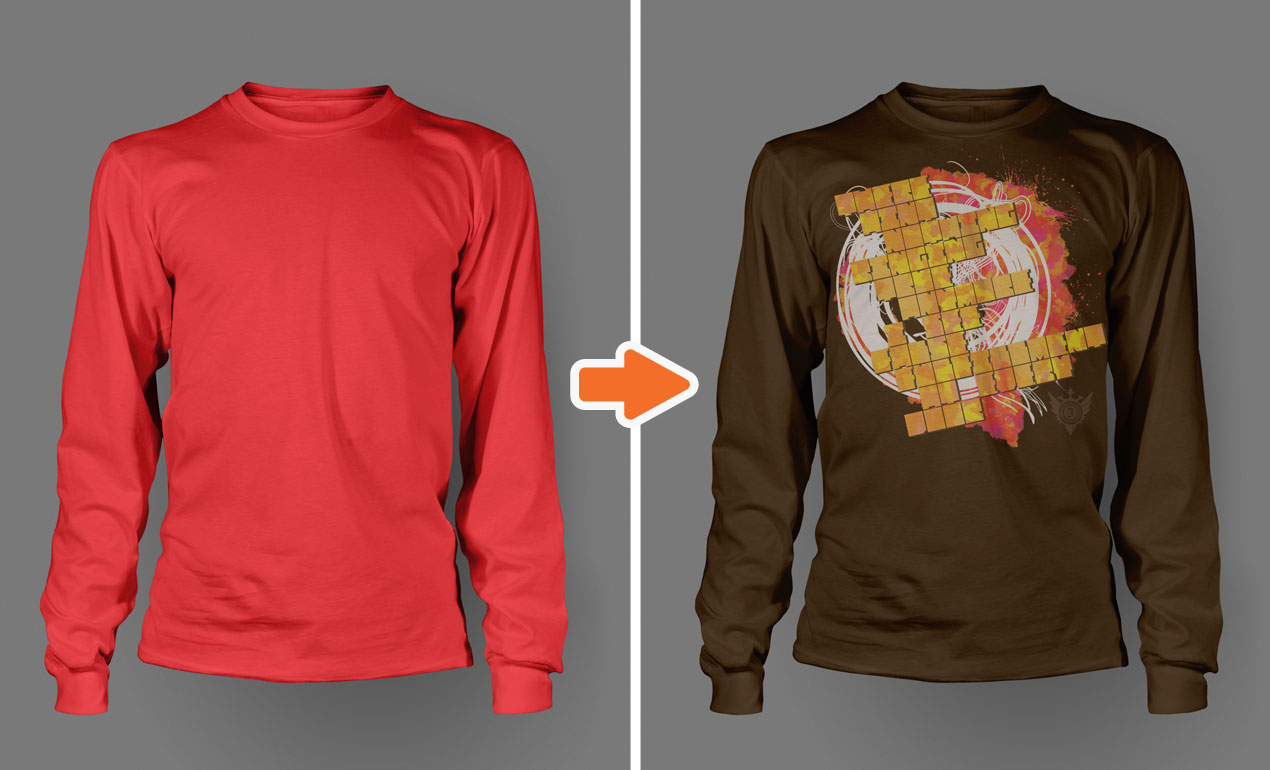 Men's Long Sleeve Shirt Mockup Templates Pack