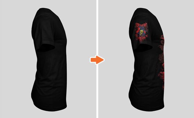 Men\'s Deep V-Neck T-Shirt Mockup Templates Pack