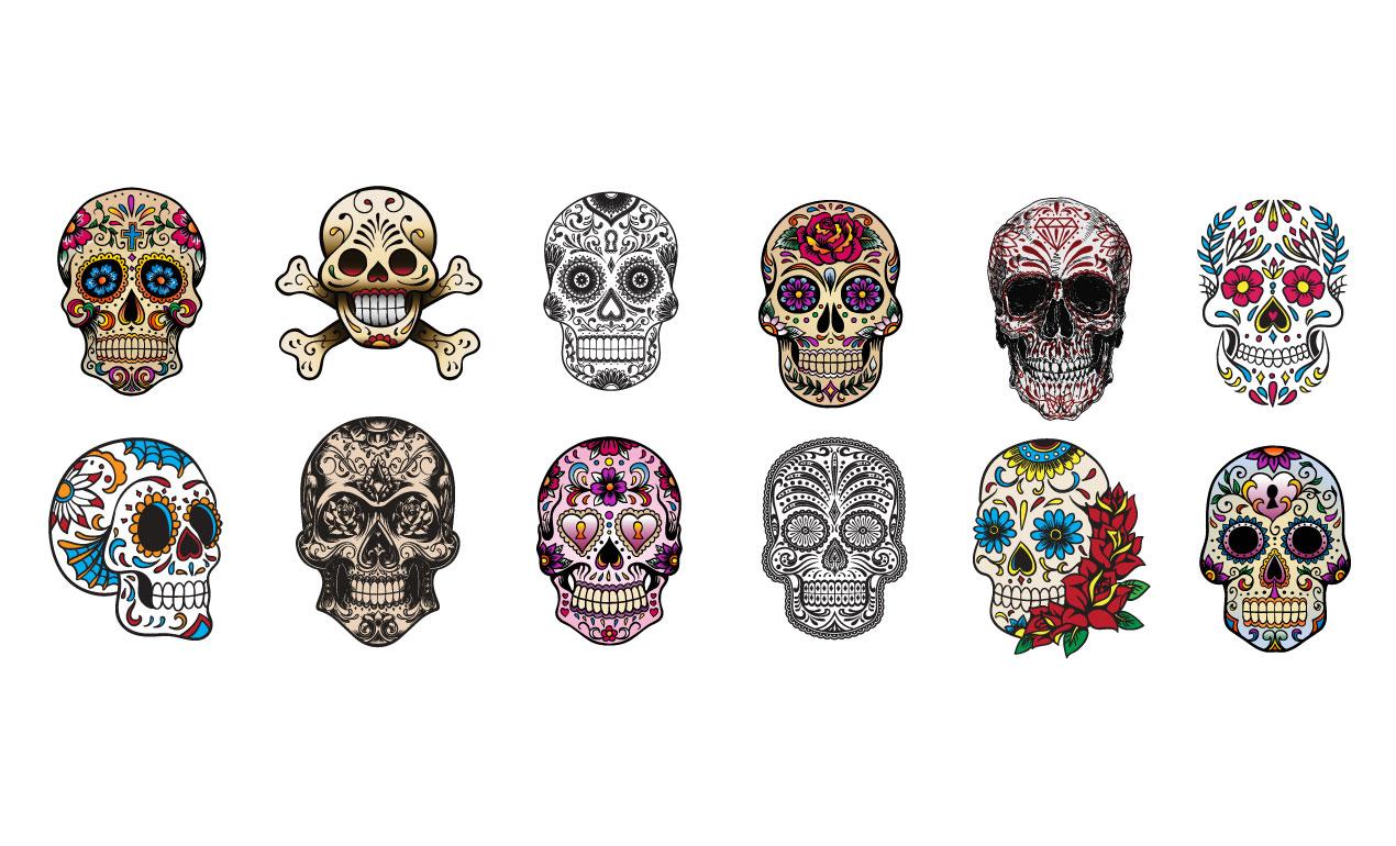 michael hinkle s sugar skull vector pack for go media sugar skull vector file sugar skull vector art free