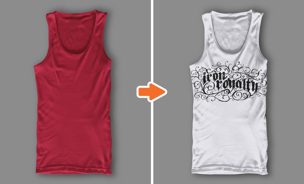 Photoshop Men's Ribbed Tank Top Templates Pack by Go Media