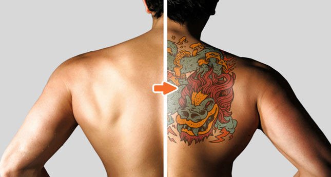 tattoo mockup photoshop templates packgo media, Powerpoint templates