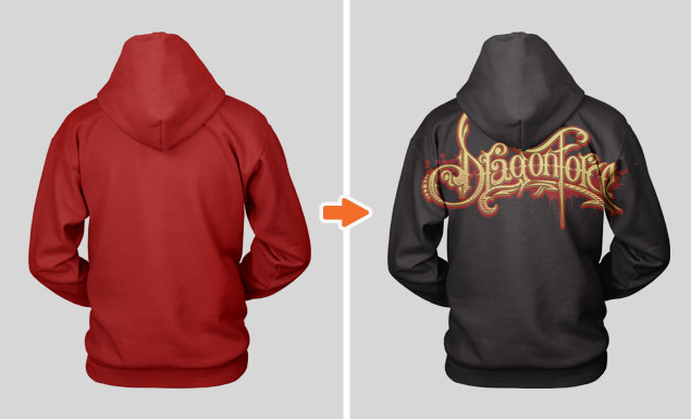 Stringless Pullover Hoodie Mockup Template by Go Media