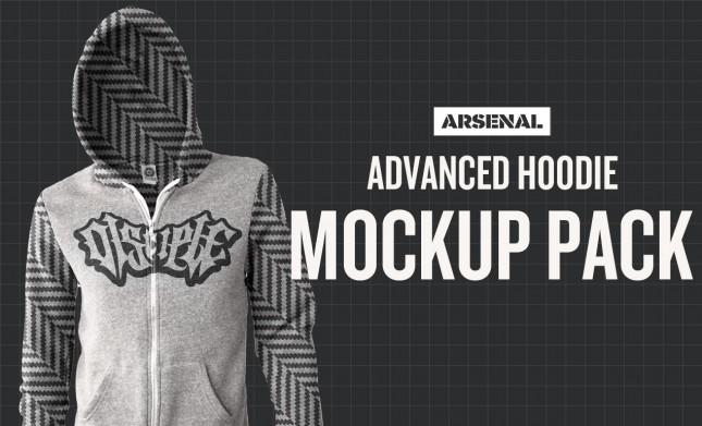 Photoshop Advanced Hoodie Mockup Templates Pack
