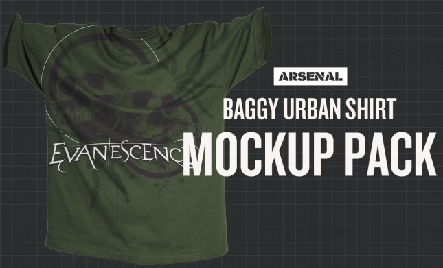 Photoshop Baggy Urban Shirt Mockup Templates Pack