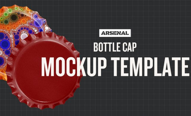 Bottle Cap Mockup Template