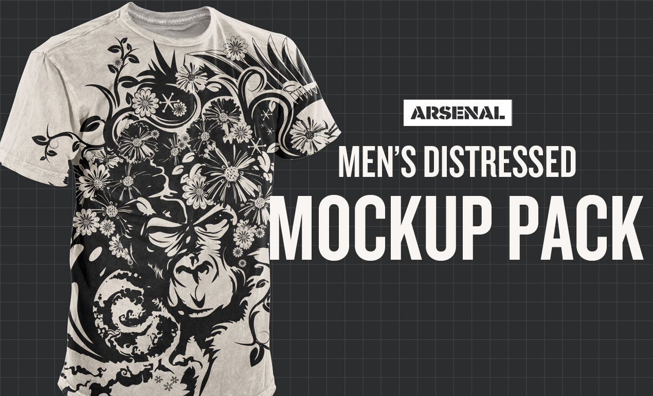 photoshop distressed shirt mockup templates pack, Powerpoint templates