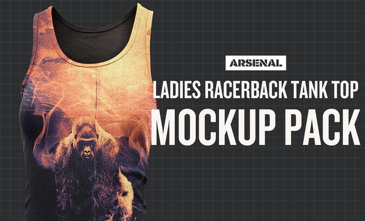 Ladies racerback tank top mockup templates pack introducing our ladies racerback tank top mockup templates pack maxwellsz