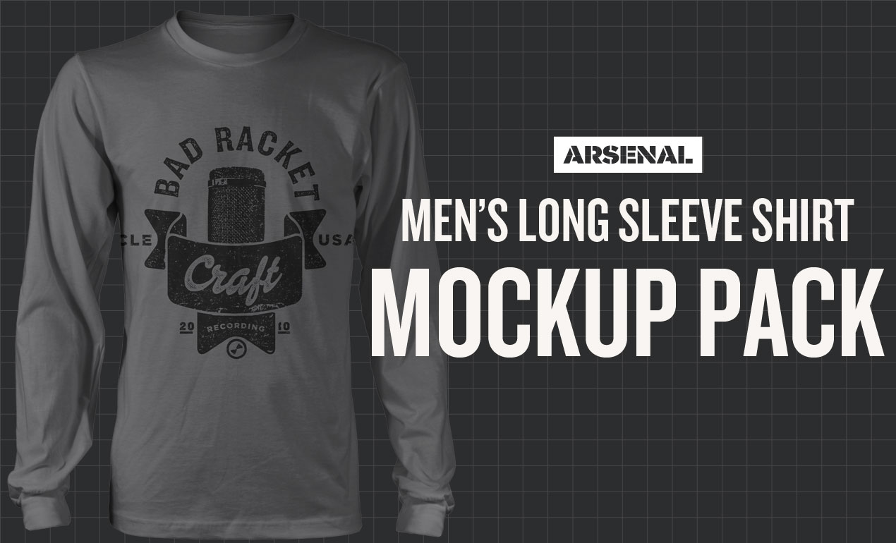 mens long sleeve shirt mockup templates pack
