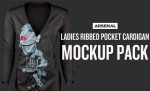 Ladies Ribbed Pocket Cardigan Mockup Templates Pack