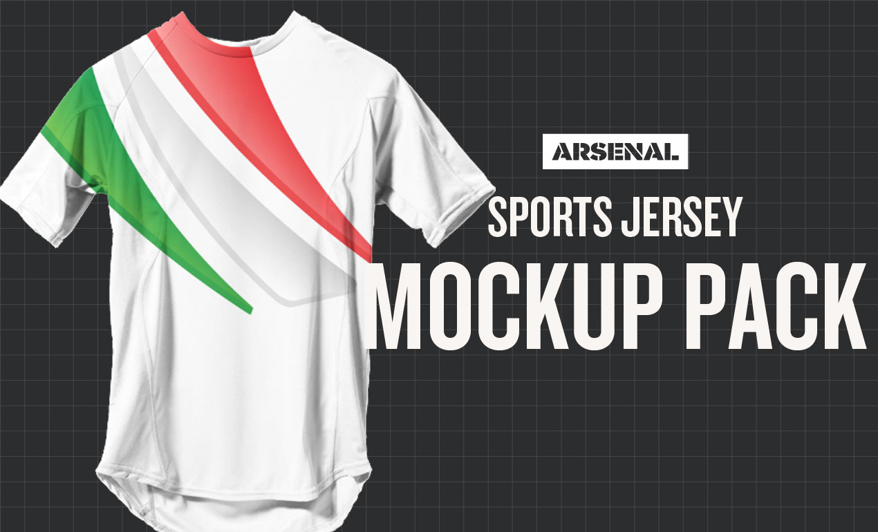 380ec485a35 Sports Jersey Mockup Template Pack by Go Media