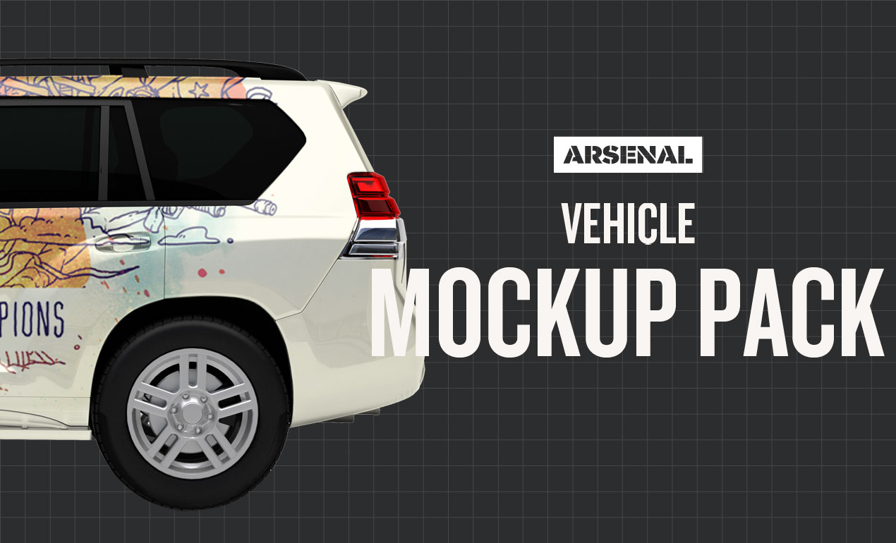 vehicle mockup templates pack
