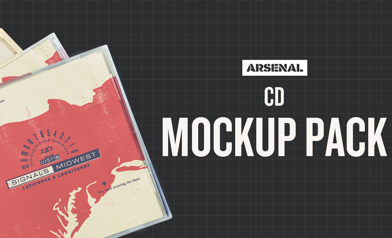 CD Mockup Templates Pack by Go Media's Arsenal