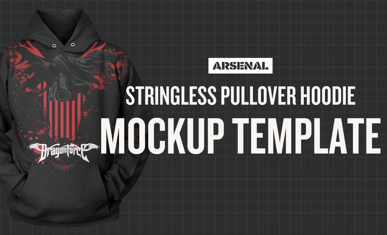 Stringless Hoodie Mockup Template Pack