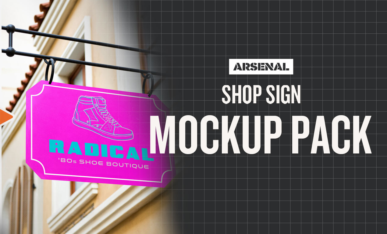 shop sign mockup templates pack by go media